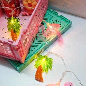 フラミンゴ×ヤシの木 LED ガーランドライト N404