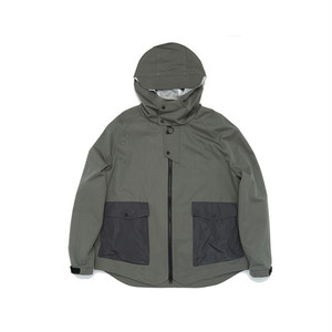 Flow Pocket Hooded Jacket mint grey ジップアップ ジャケット