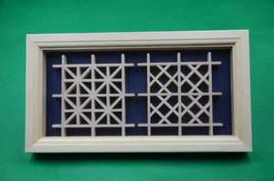 送料無料 額入りひのきのコースター(大)2枚 壁掛け インテリア 日本伝統工芸組子技法