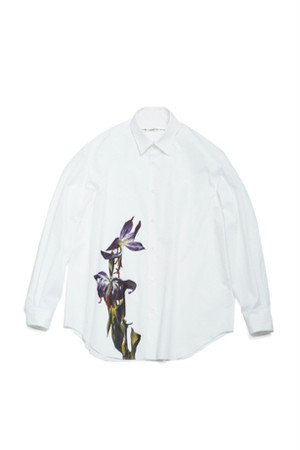 Flower Printed Shirts Photographed by Nathan Perkel -WHITE- / soe