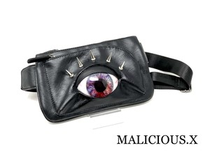 eye body bag / violet × red