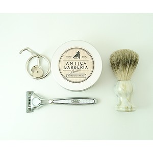 ANTICA with SCHICK QUATRO SPECIAL KIT(WHITE LIMITED) カミソリスタンド付き