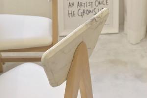 Marble Dining 2 Chairs /大理石モダンスタイル 大理石調 ダイニングチェア 2脚セット