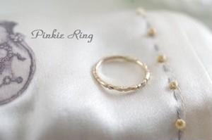 ピンキーリングbone ring K10