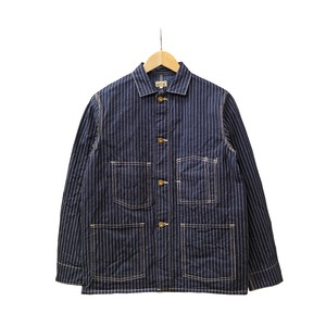 SHORT COVERALL (INDIGO STRIPE)