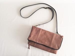 ZOZOTTE   folding mini shoulder bag/折り曲げミニショルダーバッグ