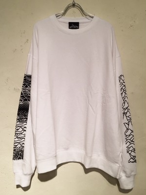 "WIDE SILHOUETTE CREW NECK SWEAT ""Ver.2""(WHITE)"