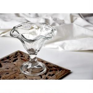 【retro sundae glass(a)】パフェグラス サンデー ソフトクリーム 昭和 古道具