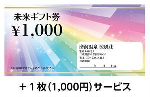 磨洞温泉涼風荘 1000円×11枚 有効期限:2年