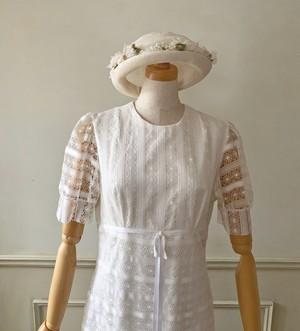 60s パフスリーブのVintage Wedding Dress