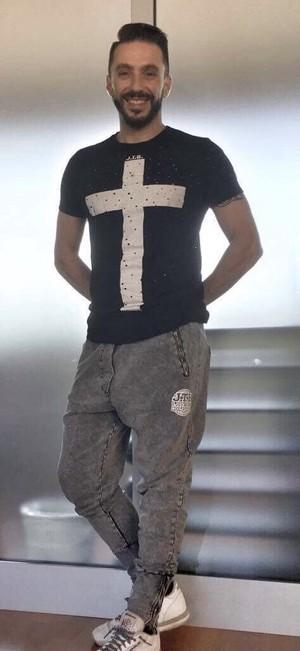 【JTB】CROCE Tシャツ【ブラック】【再入荷】イタリアンウェア【送料無料】《M&W》