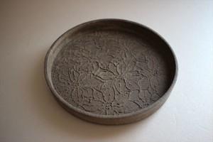 望月万里|土灰 5寸銅鑼鉢②