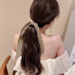 プリーツリボン花柄パールヘアゴム LABYHH960