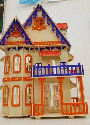 【送料無料】3D立体 木製パズル!木製ハウス④