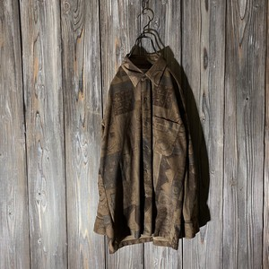 [used]vintage dark brown shirt