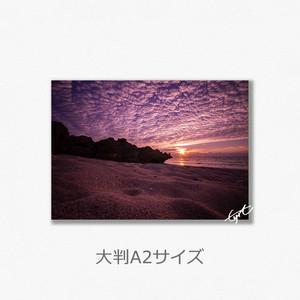 砂と雲の波(大判A2サイズ)