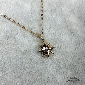 K18・ダイヤモンドペンダントセット(チェーン47センチ)