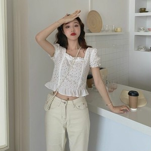 [数量限定]lace pattern lovely blouse