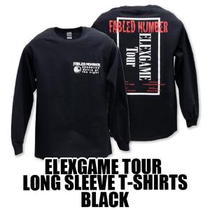 ELEXGAME TOUR LONG SLEEVE T-SHIRTS[BLACK]