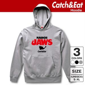 Catch&Eat【MAGOCHI JAWS パーカー】 釣り/フィッシング/サーフフィッシング/ルアーフィッシング/釣り女子/釣りガール/ヒラメ/シーバス/ブリ/マゴチ/ワラサ/フーディー