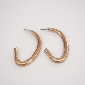Matte Curve - pierced / Gold