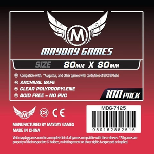 【スリーブ】Square Card Sleeves 80×80  100枚/ mayday games