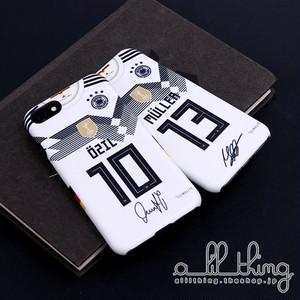 「WC2018」ドイツ ロシアW杯 ワールドカップ ホームユニフォーム メストエジル サイン入り iPhoneX iPhone8 ケース
