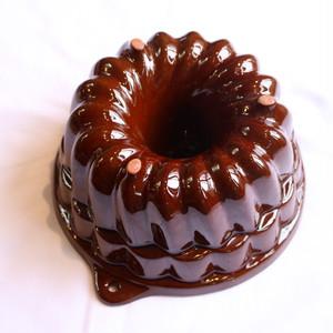 ヴィンテージ ケーキ型  ツヤツヤクグロフタイプ大(A)