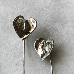 Anthurium pierces silver