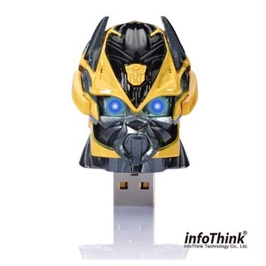 InfoThink USBメモリ TRANSFORMERS トランスフォーマー/ロストエイジ USB フラッシュドライブ 8GB Transformers: Age of Extinction HEAD バンブルビー Bumble Bee IT-USB-100(TF4-BBH) 8GB