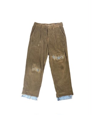 fake vintage repair pants