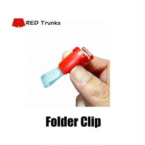 これは便利!何にでも付けれるフォルダークリップ(赤)3本セット