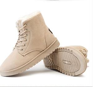 7016冬靴 レディース ショートブーツ フラットシューズ 防寒 ファー ぺたんこ靴  カジュアル 裏ボア