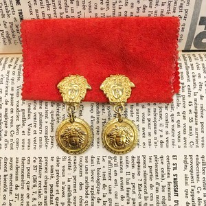 GIANNI VERSACE medousa gold earrings