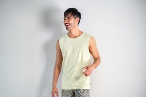 【6/3(wed)21:00販売開始】ThreeArrows Cut-off Sleeveless(light yellow)
