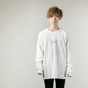 Pastel Ink Long Sleeve T-shirt   White