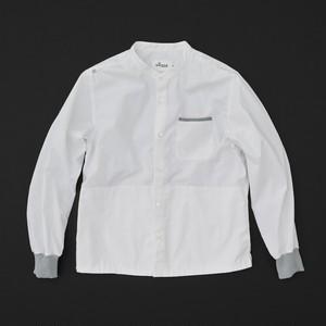 マルチポケットシャツ 2nd 白×灰+P