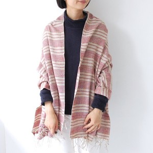 GAIJIN MADE BORDER SHAWL / WHITE