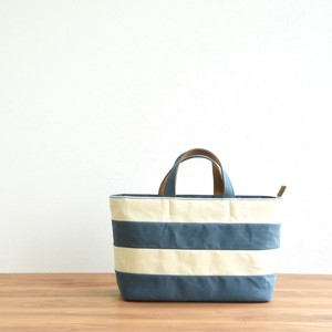 WIDE BORDER TOTE FM / CYAN BLUE