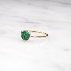 S925 OPAL RING GOLD