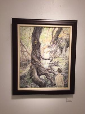 Hope Doe 「Hide and Seek」 イメージ64.5×51.5cm 油彩、鉛筆、金箔 額寸80×67.5cm