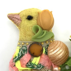 【IRODORI AZ】brooch ⑧ カナリア レモン