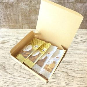 黄金井ココ クラフト箱4点セット 【無添加の米粉菓子】