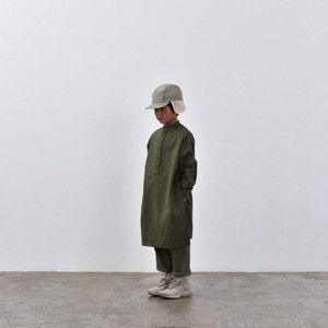 【予約】MOUN TEN. flannel long shirts (khaki) 110/125/140 [MT202015-a] MOUNTEN.