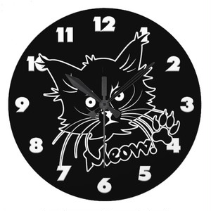 黒猫のカスタムな柱時計 ラージ壁時計