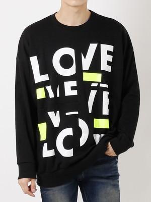 【即日出荷】LOVEロゴトレーナー トップス ロゴ カジュアル メンズ