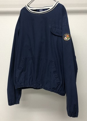 1990s POLO RALPH LAUREN COTTON PULLOVER WITH COOKIE PATCH