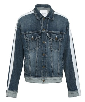 LINE PAINT STRETCH BIG DENIM JACKET[REJ061]