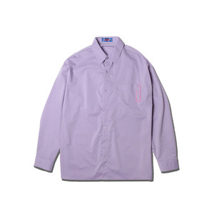 OVER SIZE BIG CLIP SHIRTS / PURPLE