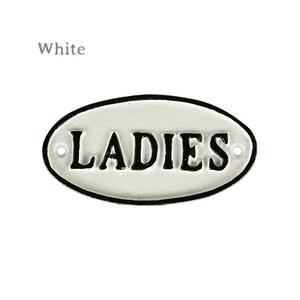 """【S455-176-LA】Iron oval sign """"LADIES"""" #サイン #アイアン #アンティーク #ヴィンテージ"""